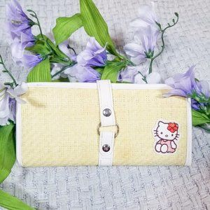 Sanrio Hello Kitty yellow, white, straw wallet